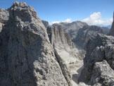 Via Normale Belvedere della Croda di Re Laurino - Dalla cima verso Torri Vaiolet