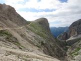 Via Normale Cima Mantello - Mantello dal rifugio Antermoia