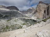 Via Normale Cima Mantello - dalla cima verso Antermoia