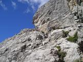 Via Normale Castellato - Rampa di salita