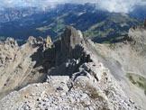 Via Normale Cima del Forcellone - Panorama verso N ed il lago di Carezza