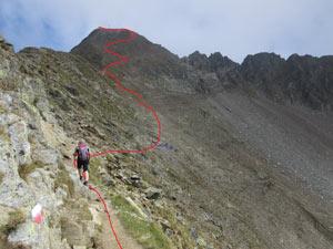 Via Normale Punta Cervinia / Hirtzer Spitze