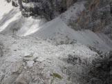 Via Normale Punta dell'Agnello - Dalla vetta verso forcella e bivacco