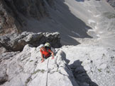 Via Normale Cima di Val d´ Arcia - Sulle ripide lastronate finali
