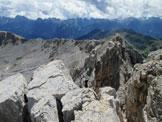 Via Normale Cima di Valsorda - Dalla vetta verso rifugio Torre di Pisa