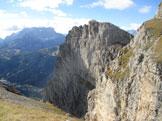 Via Normale Cima Loschiesuoi - Verso parete Cernera e Civetta