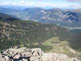 Via Normale Cima Busa Alta - Dalla cima verso Val di Fiemme