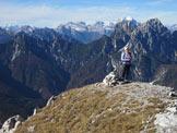 Via Normale Monte Palazza - Dalla vetta verso Bosconero e Civetta