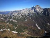 Via Normale Monte Palazza - Dalla vetta verso il Duranno