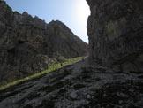 Via Normale Spiz Belvedere - Canalone accesso forcella Belvedere