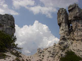 Via Normale Spiz Belvedere - Sella sabbiosa e 2 roccioni