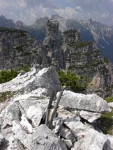 Via Normale Spiz Belvedere - Dalla vetta verso Spiz Tiziana e Tamer