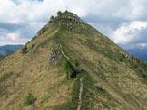 Via Normale Monte Gioco - La cresta finale vista dall´anticima