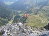 Via Normale Monte Palombino - Dalla vetta verso Porze Hutte