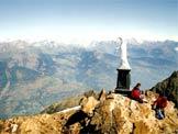 Via Normale Becca di Nona - La statua sulla cima