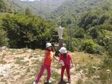 Via Normale Monte S. Emiliano - La statua del Cristo