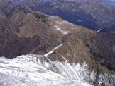 Via Normale Monte Serva - salita da N - Dalla vetta verso crestina di salita