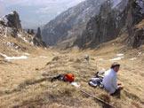 Via Normale Monte San Mauro - Al culmine del vallone erboso