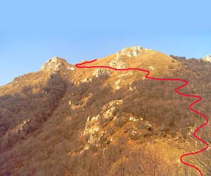 Via Normale Monte Due Mani