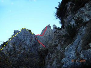 Via Normale Pilastro est del Vajo Stretto - Spigolo Noaro