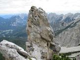 Via Normale Cima dei Gravinai - Lo strano pinnacolo roccioso