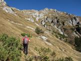 Via Normale Monte Chiadin - Lungo il versante S