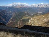 Via Normale Monte Vallazza - Dalla vetta verso Lagorai e P.S.M.