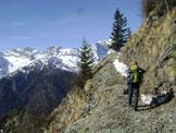 Via Normale Monte Punta - In vista del monte Civetta