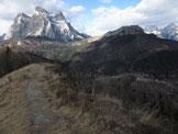 Via Normale Monte Punta - Dalla vetta verso il Pelmo