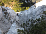 Via Normale Spiz de San Piero - canalino finale