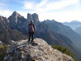 Via Normale Spiz de San Piero - Dalla vetta verso cime Bosconero
