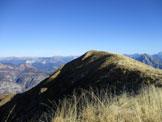 Via Normale Colle dei Larici - la cima del Colle dei Larici