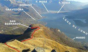 Via Normale Monte Bregagno – da S. Bernardo (dorsale NE)