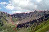 Via Normale Cima Forzellina - La cresta tra Cima Forzellina e Monte Palù
