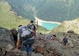 Via Normale Monte Palù - Sullo sfondo il lago di Pian Palù