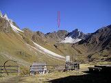 Via Normale Cima di Lago Nero - La cima vista dal rifugio Monteneve
