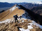 Via Normale Monte Valsacco - La cresta che dal M. Pare porta al M. Valsacco