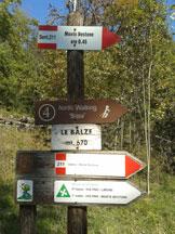 Via Normale Monte Bestone - Cartelli segnaletici