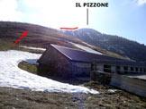 Via Normale Il Pizzone - Immagine ripresa all'Alpe del Rozzo