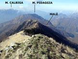 Via Normale Il Pizzone - A centro immagine la cresta SSW, dalla vetta