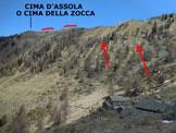 Via Normale Cima d'Assola (o Cima della Zocca) - Immagine ripresa dalla Baita (o Casera) Zocca