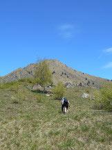 Via Normale Croce del Cavallo - Raggiungendo l´Alpe la Piana e alle spalle la Punta Cinquegna