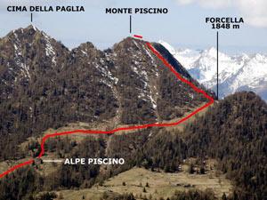 Via Normale Monte Piscino