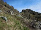Via Normale Monte Piscino - In salita, a centro immagine la Forcella (q. 1848 m)
