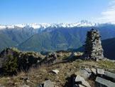 Via Normale Monte Piscino - Panorama di vetta sul Gruppo del Masino