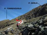 Via Normale Pizzo Torrenzuolo - Immagine ripresa alla Baita Matarone