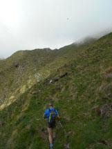 Via Normale Pizzo Peloso (cresta NE) - verso il Passo della Maggia