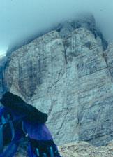 Via Normale Torre di Valgrande - Il versante di salita dalla Torre d´Alleghe