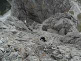 Via Normale Crode dei Longerin - Cima Nord - Il versante di salita visto dall´anticima