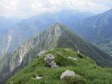 Via Normale Monte Piombada - Vista dalla cima del Piombada verso il Monte Corona Alta